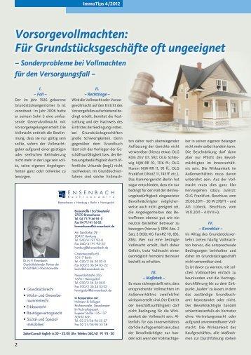 Vorsorgevollmachten: Für Grundstücksgeschäfte oft ungeeignet