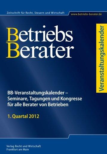 1. Quartal 2012 - Betriebs-Berater