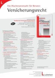 Handbuch des Fachanwalts Versicherungsrecht - Halm & Collegen