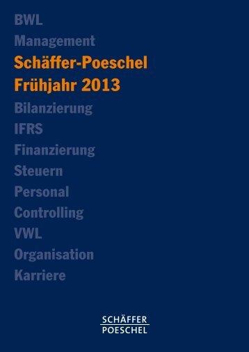 Schäffer-Poeschel Frühjahr 2013 - Fachbuch-Journal