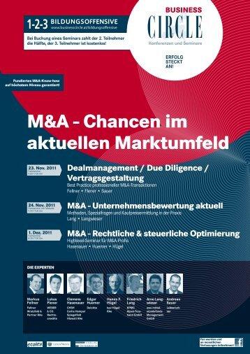 M&A - Chancen im aktuellen Marktumfeld - WEBER & CO.