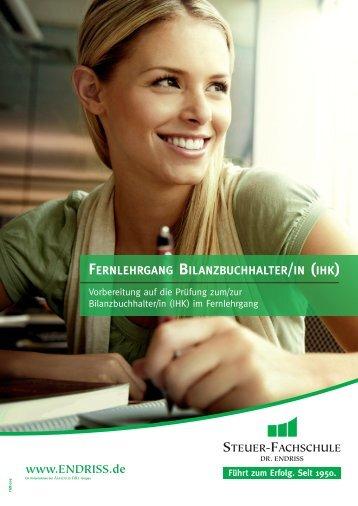 fernlehrgang bilanzbuchhalter/in - Steuer-Fachschule Dr. Endriss