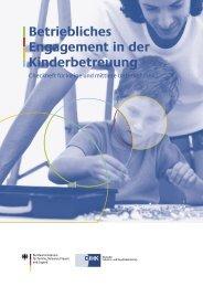 Betriebliches Engagement in der Kinderbetreuung - Mittelstand und ...