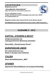 Leseprobe Grundbesitz International 2 / 2012 - Schutzgemeinschaft