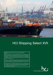 Kurzprospekt HCI Shipping Select XVII - FONDS professionell