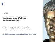 Europa und seine künftigen Herausforderungen - FONDS ...