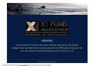 Eines der erfolgreichsten Dach Hedge Fund Systeme weltweit!