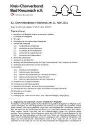 Protokoll des 62. ordentlichen Kreis-Chorverbandstages in Bockenau
