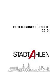 Beteiligungsbericht 2010 - der Stadt Ahlen