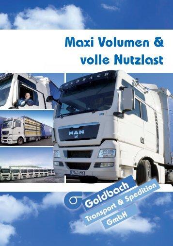 Maxi Volumen & volle Nutzlast