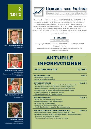 2-2012 PDF - EISMANN Rechtsanwälte