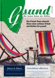 PDF-Ausgabe - G'sund.net