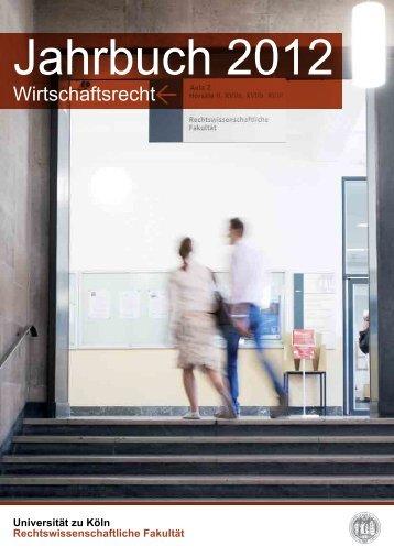 Wirtschaftsrecht - Rechtswissenschaftliche Fakultät - Universität zu ...