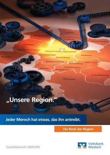 """""""Unsere Region."""" - Volksbank Kraichgau Wiesloch-Sinsheim eG"""