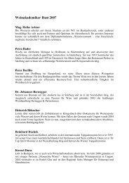 Weinakademie Absolventen 2007 Österreich - Österreich Wein