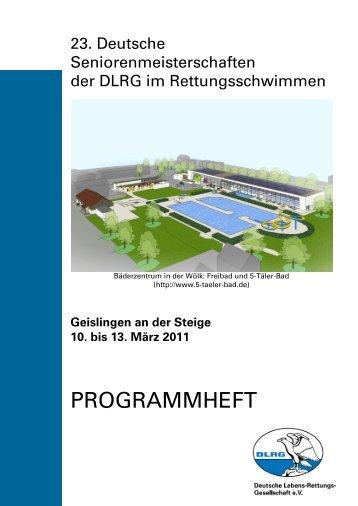 Programmheft als PDF - DLRG Ortsgruppe Geislingen