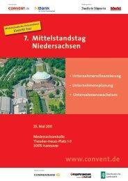 7. Mittelstandstag Niedersachsen - Convent