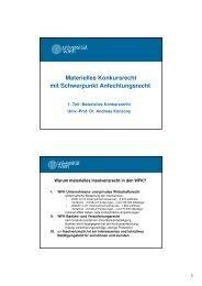 Materielles Konkursrecht Mit Schwerpunkt Anfechtungsrecht