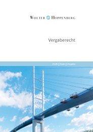Vergaberecht - Wolter Hoppenberg