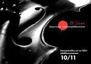 20 Jahre - bayerische kammerphilharmonie