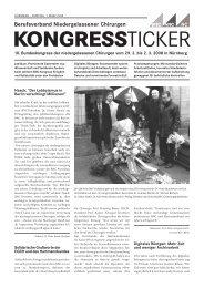 KONGRESSTICKER - Berufsverband Niedergelassener Chirurgen
