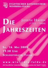 felix menDelssohn - BartholDy - Städtischer Konzertchor Winfridia ...