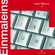Einmaleins der Wiener Börse inkl. Börsebegriffe (PDF-File