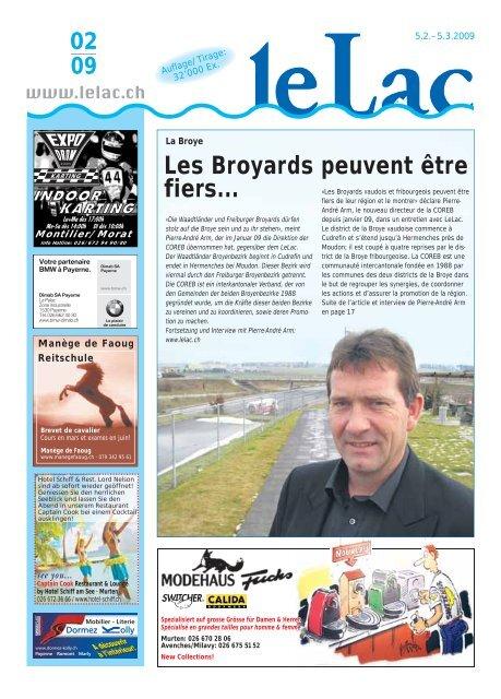 Regionalinfos neu auch in Salavaux | Freiburger Nachrichten