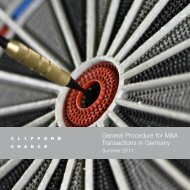 Brochure template - Global M&A Toolkit - Clifford Chance