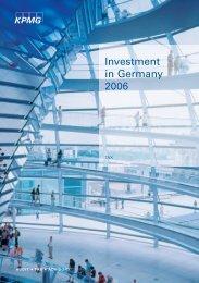 Investment Germany 2006.indb - Enterprise Europe Network Bayern
