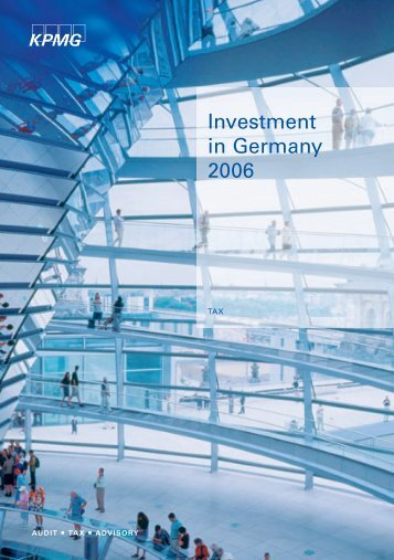 Investment Germany 2006.indb - Enterprise Europe Network Bayern