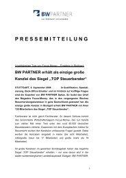 TOP Steuerberater - BW PARTNER