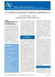 dmp Newsletter 02/2012 - Derra, Meyer & Partner Rechtsanwälte