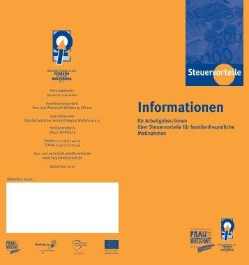 Informationen - Koordinierungsstelle Frau und Wirtschaft Wolfsburg ...