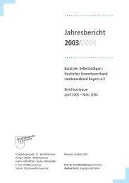 Jahresbericht 2003/2004 - Bund der Selbständigen (BDS ...