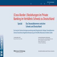 (Cross-Border-) Beziehungen im Private Banking im ... - WM Seminare