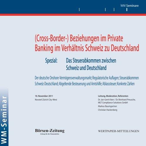 (Cross-Border-) Beziehungen im Private Banking im ... - WM Seminare