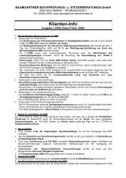 Klienten-Info - Steuerberater Baumgartner, Wolfsberg