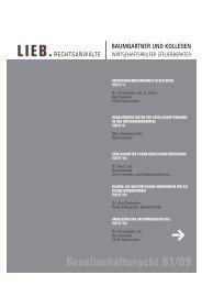 Gesellschaftsrecht 01/09 - Baumgartner und Kollegen