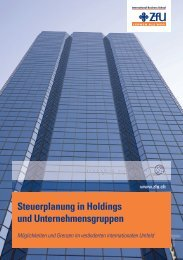 Steuern & Strukturen optimieren - ZfU - International Business School