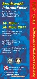 Berufsinformationstage (BIT) 2011 - Gymnasium Laurentianum ...
