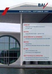 Bauer Gerhard - Bundesverband Alternative Investment eV