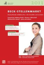 beck-stellenmarkt - Verlag C. H. Beck oHG