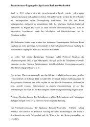 Steuerberater-Tagung der Sparkasse Beckum-Wadersloh