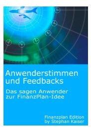 Anwenderstimmen und Feedbacks als PDF-Datei - Mein-finanzbrief.de