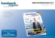 MEDIA-INFORMATIONEN 2013 - Handwerk Magazin