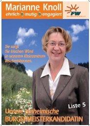 REICHERTSHAUSEN eV - Freie Wähler Bayern
