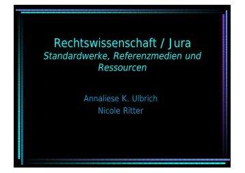 Rechtswissenschaft / Jura
