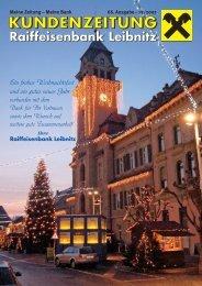 Ausgabe 66 (pdf) - Raiffeisenbank Leibnitz