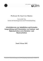 und Masterarbeiten Stand: Februar 2010 - Institut für ...